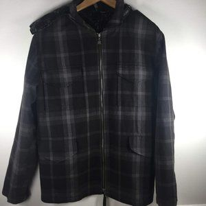 kr3w Plaid Skateboarding Jacket Black Krew Large
